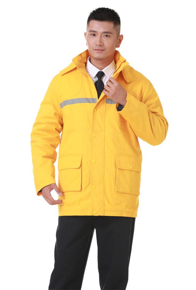 HR-998款纯棉中长棉衣工作服 劳保服 工装