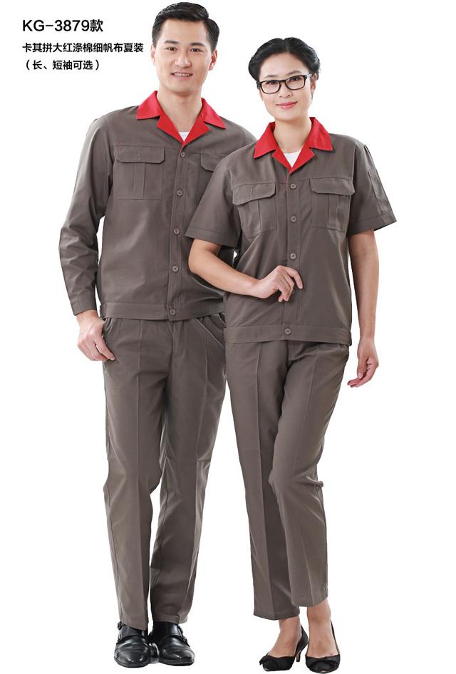 HR-879细帆布拼色长袖