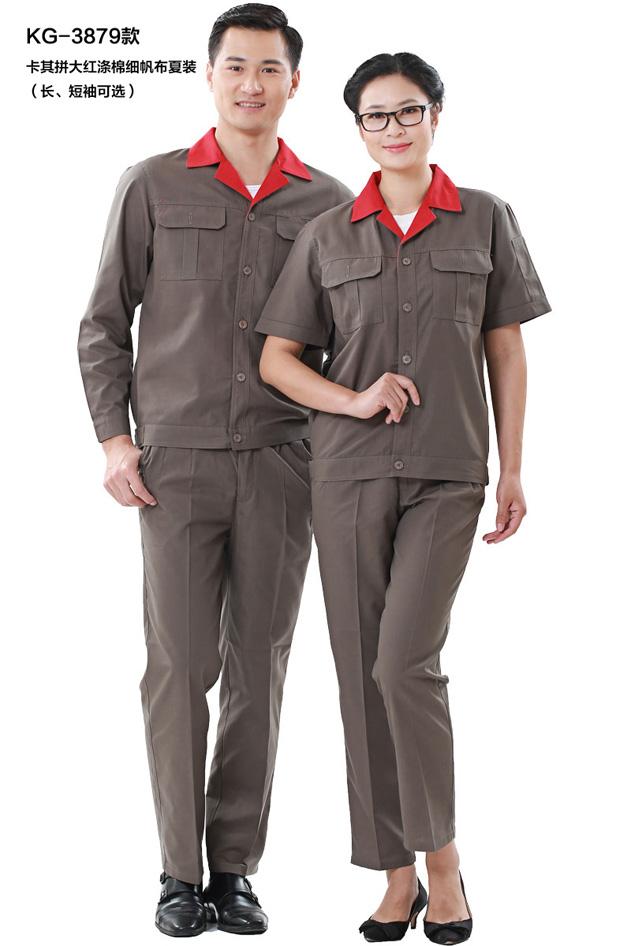 HR-879细帆布拼色短袖
