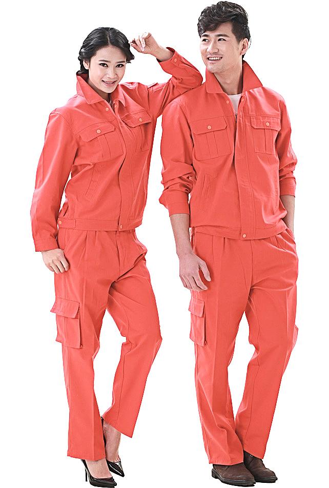 洪瑞 KG-316款桔红帆布单层茄克工作服,劳保服,工装,现货