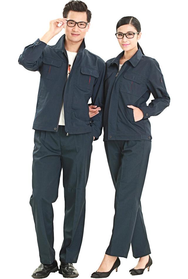 洪瑞 KG-318款涤棉帆布单层茄克套装工作服 劳保服 工装